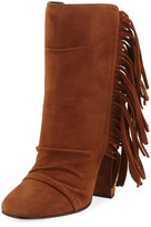 Giuseppe Zanotti Alabama Suede Fringed High Bootie, Brown