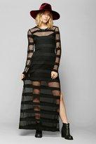Urban Outfitters Backstage Criminal Mesh Stripe Maxi Dress