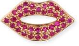 Sydney Evan 14k Rose Gold & Ruby Lips Single Stud Earring