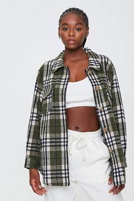 Forever 21 Plaid Button-Front Jacket