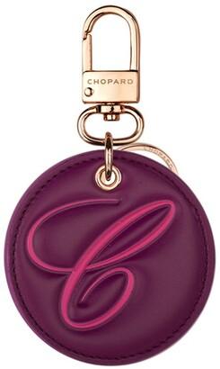 Chopard Leather Happy Keyring