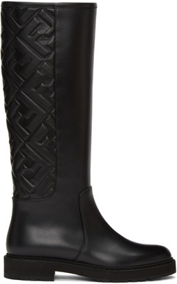 Fendi Black Forever Tall Boots