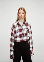 MANGO Oversize check shirt