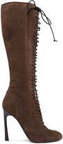 Giambattista Valli Lace-up suede knee boots