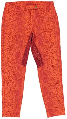 Roseanna Red Polyester Trousers