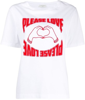 Sandro Paris short sleeve Please Love print T-shirt