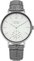 Fiorelli Ladies grey croc leather strap watch