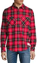 Canadian Olympic Team Collection Plaid Flannel Button-Down Shirt