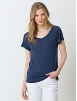 Somewhere Woman's loose-fit linen jersey T-shirt, HEKI