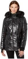 MICHAEL Michael Kors Active Polyfill with Faux Fur Trim Hood A420784TZ (Black) Women's Coat