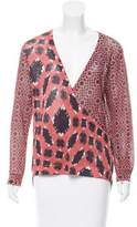 Sass & Bide Abstract Print Knit Top