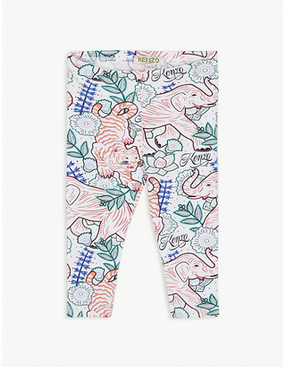 Kenzo Jungle-print cotton-blend leggings 6-36 months