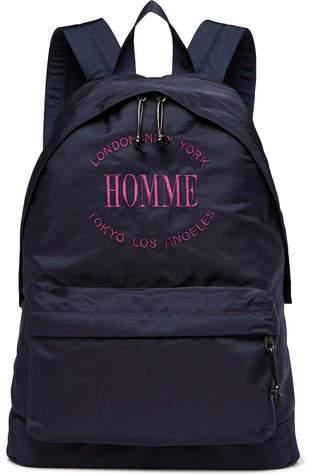 Balenciaga Explorer Embroidered Canvas Backpack