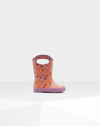Hunter Original Kids First Spot Camo Grab Handle Wellington Boots
