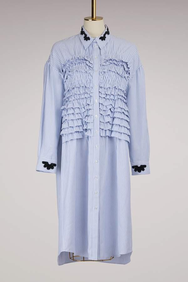 Simone Rocha Smocked front shirt dress