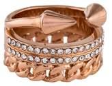 Vita Fede Triple Chain Crystal Titan Ring