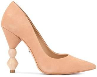 Schutz wooden heel pumps