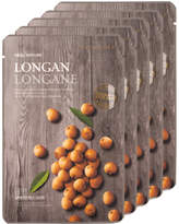 The Face Shop 5Pc Real Nature Longan Face Mask - Anti-Aging