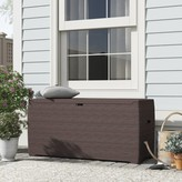 Outdoor 71 Gallon Plastic and Resin Deck Box Duramax Building Products Color: Brown
