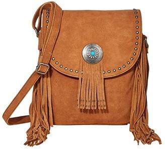 Scully Yadira Suede Fringe Handbag w/ Concho (Cinnamon) Handbags