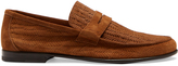 Harry's of London James embossed-suede loafers