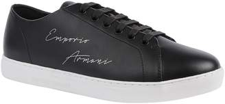 Emporio Armani Logo Signature Leather Sneakers