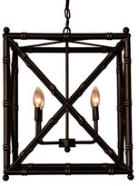 The Well Appointed House Scalamandre Maison Baldwin Black Chandelier with Optional Shades