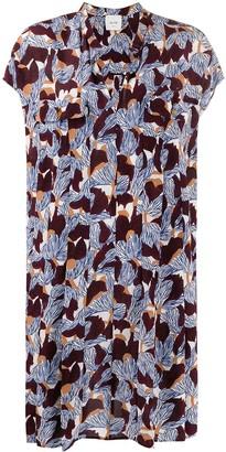 Alysi Floral Print Shirt Dress