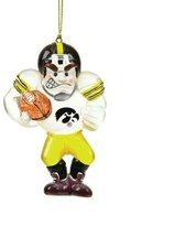 Fans With Pride Iowa Acrylic Football Player Ornament