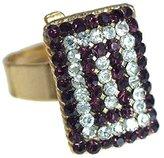 AJ Fashion Jewellery Cyndi tone lilac Crystal Fashion Ring