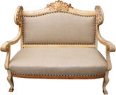 One Kings Lane Vintage 19th-C. French Carved Sofa w/ Shell
