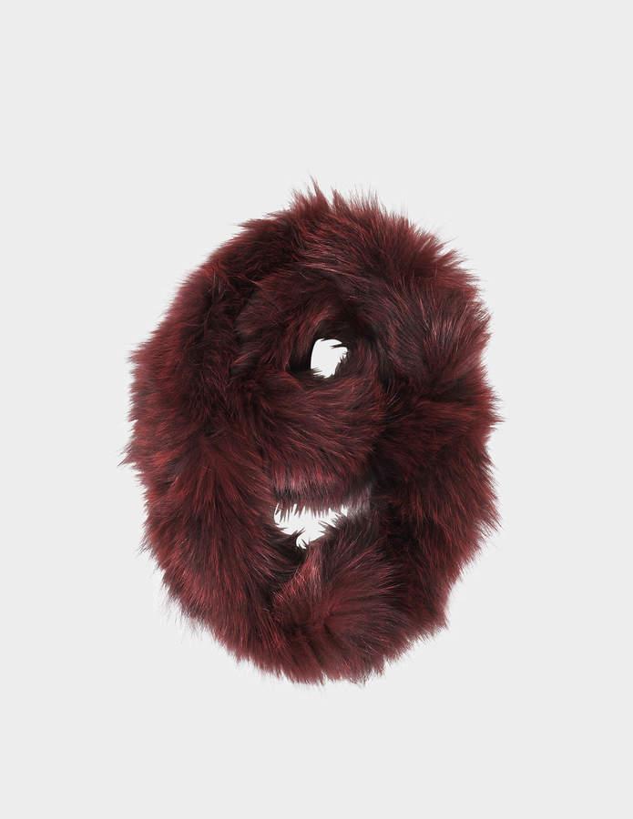 Yves Salomon knitted scarf fox