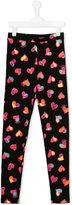 Moschino Kids - heart print leggings - kids - Cotton/Spandex/Elastane - 14 yrs