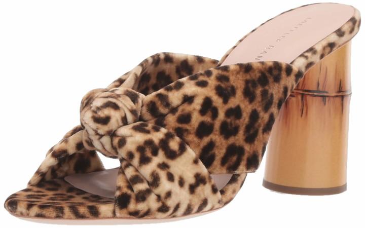Heeled Sandal COCO-VL Velvet Loeffler Randall Womens Coco High Heel Knot Slide
