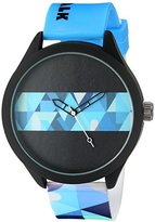 Airwalk Men's Quartz Metal and Silicone Automatic Watch, Multi Color (Model: AWW-5090-BL)
