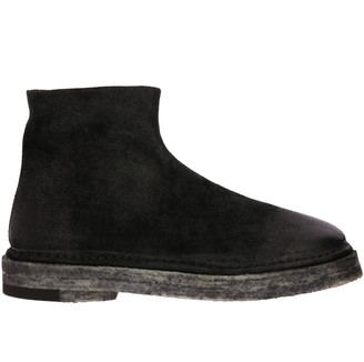 Marsèll Zip Parapa Suede Ankle Boots With Rubber Sole And Zip