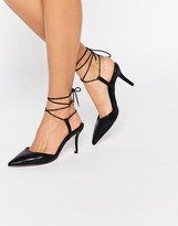 Asos SHOWCASE Pointed Lace Up Heels