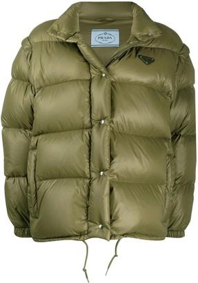 Prada Detachable-Sleeve Puffer Jacket