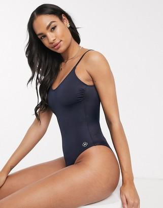 Dorina Rhodes scoop swimsuit in black