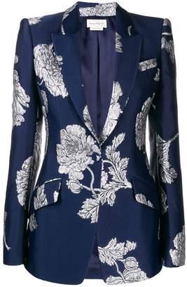 Alexander McQueen embroidered floral print blazer