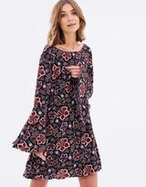 Sass Tash Floral Bell Sleeve Dress