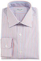 Charvet Striped Dress Shirt, Red/Blue/White