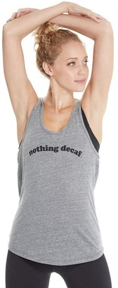 good hYOUman Women's Casey Nothing Decaf Uneck Tank