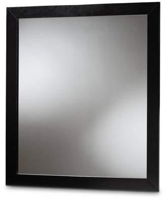 Baxton Studio Arly Wood Dresser Mirror Black
