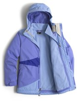 The North Face 'Mountain View' Hooded Waterproof TriClimate ® 3-in-1 Jacket (Little Girls & Big Girls)