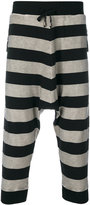 Unconditional striped harem trousers - men - Cotton/Spandex/Elastane - L