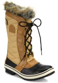 Sorel Women's Tofino II Coated Canvas& Faux Fur Winter Boots - Black - Size 10.5