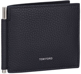 Tom Ford Leather Money Clip Wallet