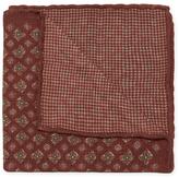 Brunello Cucinelli Printed Wool Pocket Square