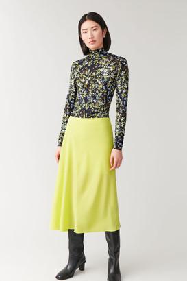 Cos Bias Cut Mulberry Silk Skirt